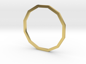Dodecagon 17.75mm in Polished Brass