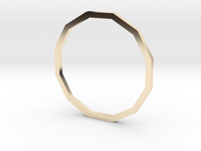 Dodecagon 17.75mm in 14K Yellow Gold