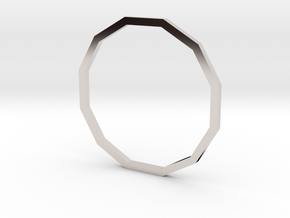 Dodecagon 18.89mm in Platinum
