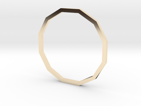 Dodecagon 18.89mm in 14K Yellow Gold