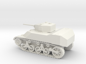 1/72 Scale M5A1 Light Tank in White Natural Versatile Plastic