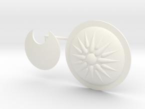 DIMITRIS 9 2 SHIELDS  in White Processed Versatile Plastic