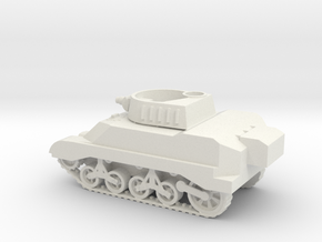 1/72 Scale M8 Howitzer Tank in White Natural Versatile Plastic