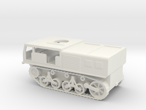 1/87 Scale M4 High Speed Tractor in White Natural Versatile Plastic
