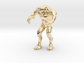 Hell knight - Doom  3 inch in 14K Yellow Gold