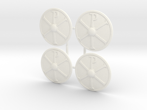 BYZANTINE SHIELD 3X4 in White Processed Versatile Plastic