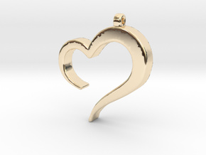 Heart_pendant in 14k Gold Plated Brass