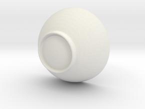 Environmental bowl in White Natural Versatile Plastic: Medium