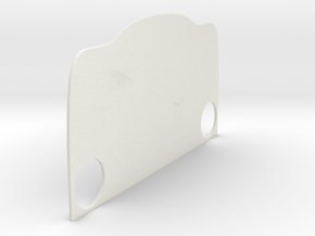Grill-Backplate-Hole-14mm in White Natural Versatile Plastic
