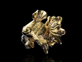 Gold Fish ( Koi ) in 18K Yellow Gold