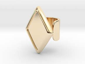 Black Rhombus Cosplay Ring (Club Scene) in 14k Gold Plated Brass: 1.5 / 40.5