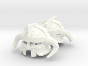DWARF KING HELMET x2 in White Processed Versatile Plastic