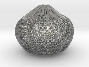 Bulbasaur's Bulb in Natural Silver