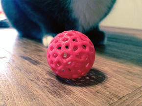 Voronoi Cat Toy in Red Processed Versatile Plastic