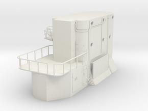 1/30 IJN Akagi Tower part 1 in White Natural Versatile Plastic