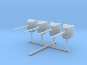 1/400 Russian 152mm /45 Naval Gun shielded Set x4 in Smooth Fine Detail Plastic