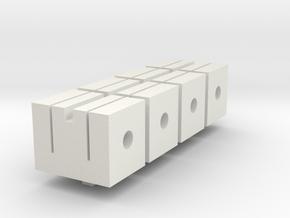 n scale flex track clamp set of 4 Gleisklammern in White Natural Versatile Plastic