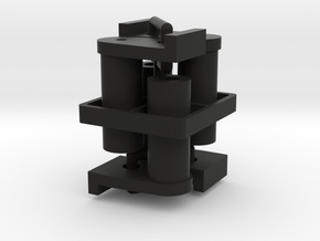 F150 Antenna Mount (x4), Tamiya TA02, TA02T in Black Natural Versatile Plastic