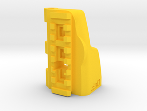 TeleScopix to G36 Shoulder Stock Adapter in Yellow Processed Versatile Plastic