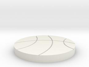 basketball coasater in White Natural Versatile Plastic
