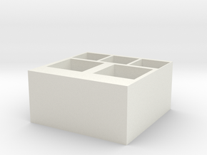 storage box in White Premium Versatile Plastic: Medium