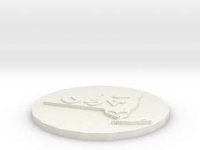 USA style coaster in White Natural Versatile Plastic