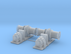 1/72 USN Winch Set x2 in Smooth Fine Detail Plastic