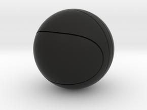 basketball in Black Natural Versatile Plastic