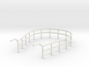 1/72 U-Boot U-441 Railing 3 for Conning Tower in White Natural Versatile Plastic