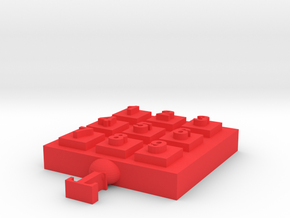 Digital key Key Device in Red Processed Versatile Plastic: Small