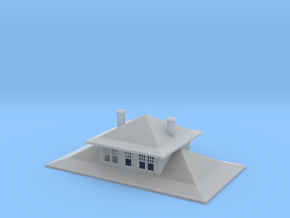 Cascade Depot Two Story Roof in Smooth Fine Detail Plastic