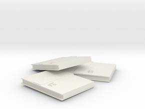素色筆記本(Plain notebook) in White Natural Versatile Plastic: Medium
