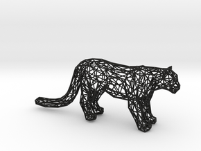 Wireframe LEOPARD in Black Natural Versatile Plastic