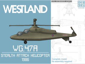 Westland WG.47A Stealth Attack Helicopter in Black Natural Versatile Plastic: 1:144