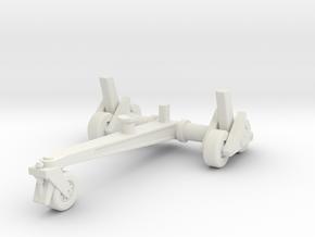 (1:144) Take-off Trolley (for Arado E.377) in White Natural Versatile Plastic