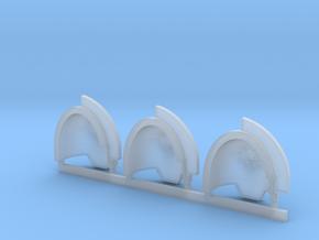 Nova Skulls Aggressive Shoulder Pads x3 L in Smooth Fine Detail Plastic
