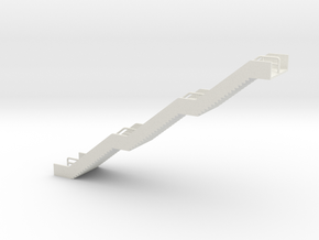 N Scale Station Stairs H65mm in White Natural Versatile Plastic
