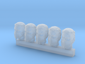 Valkyries Heads (medium) in Smooth Fine Detail Plastic