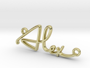 Alex Script First Name Pendant in 18k Gold Plated Brass