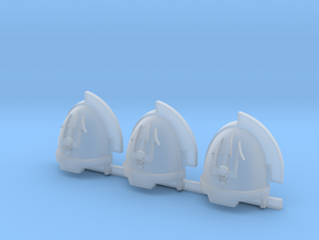 Skull on Spear Aggressive Shoulder Pads x3 R in Smooth Fine Detail Plastic
