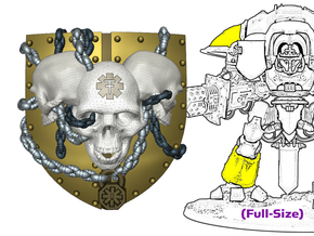 3 Skull Shield: Knight Insignias (Shoulder/Shin) in Smooth Fine Detail Plastic