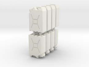 1:18 water cans X8 in White Natural Versatile Plastic