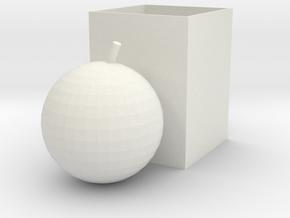 apple pen holder in White Natural Versatile Plastic