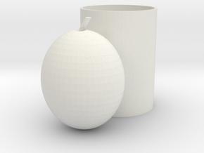 pear pen holder in White Natural Versatile Plastic