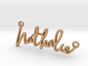 Nathalie Script First Name Pendant in Natural Bronze