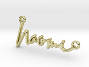 Naomi Script First Name Pendant in 18k Gold Plated Brass