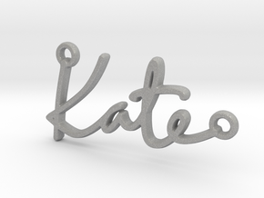 Kate Script First Name Pendant in Aluminum