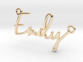 Emily Script First Name Pendant in 14K Yellow Gold