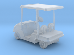 HO Scale Golf Cart  in Smooth Fine Detail Plastic