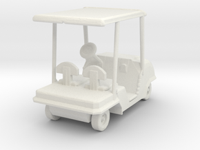S Scale Golf Cart in White Natural Versatile Plastic
